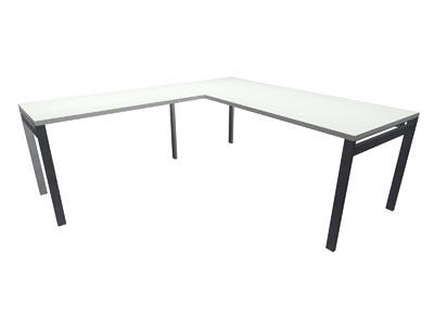 """Rent the STAKS 30"""" x 72"""" L-Shaped Desk, White (LEFT RETURN)"""