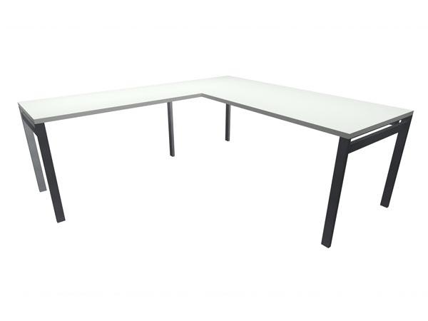"""Rent the STAKS 30"""" x 66"""" L-Shaped Desk, White (LEFT RETURN)"""