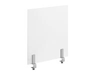 Rent the DIVIDE Frosted Acrylic Desk Divider with Clamp On Bracket
