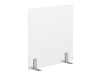 Rent the DIVIDE Frosted Acrylic Desk Divider with Free Standing T Bracket