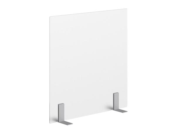 Rent the DNP**DIVIDE Frosted Acrylic Desk Divider with Free Standing T Bracket