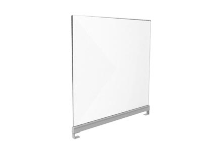 Rent the Upmount Frosted Acrylic Desk Divider with Clamp