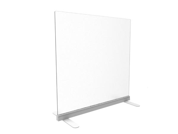 Rent the Upmount Freestanding Frosted Acrylic Divider