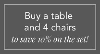dining table plus chairs 5% offer