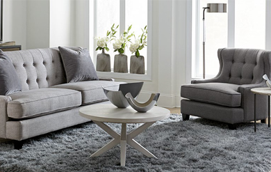 contemporary couch with tables