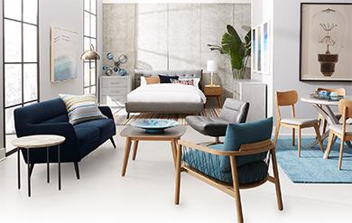 room with Nordic Scandinavian interior design