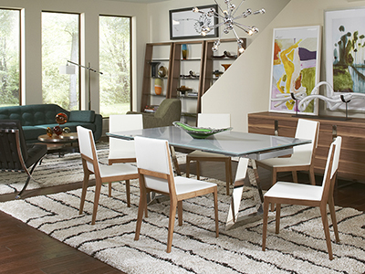 open living room and dining room combination