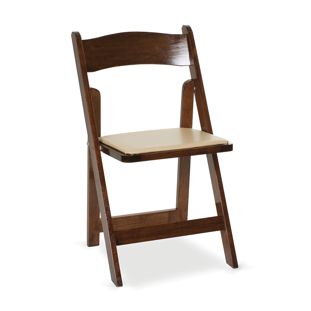 Classic folding wood chair for rent